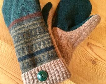 Wool Sweater Mittens (XS)