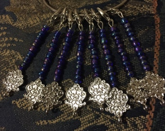 Beaded, Claw Clasp, Crochet/Knitting Stitch Markers