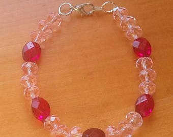 Pale pink bracelet
