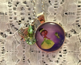 Disney The Princess and the Frog Inspired Charm Pendant Necklace