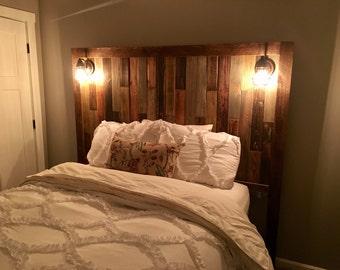 Reclaimed/restored wood headboard