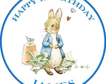 Peter rabbit edible cake topper 7.5 inch personalized