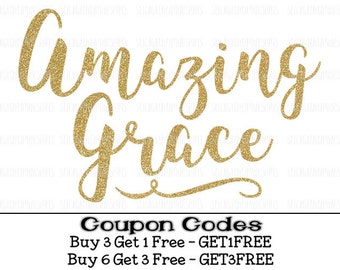 Amazing Grace Svg Christian Svg Grace svg Blessed PNG Cut File Easter Svg files for Silhouette Cameo Svg files for cricut Bible svg song svg