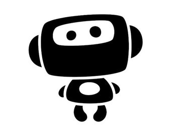Cute Robot Vinyl Decal #1