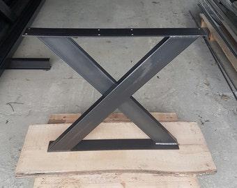 Table runners 1 pair steel 73-80 industrial design X 100-40 1 pair