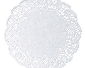 "Lace White Paper 5"" Doily (Qty 250)"