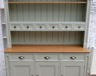 Kitchen Dresser tall country cupboard kitchen dresser Handmade Kitchen Dresser Farrow Ball