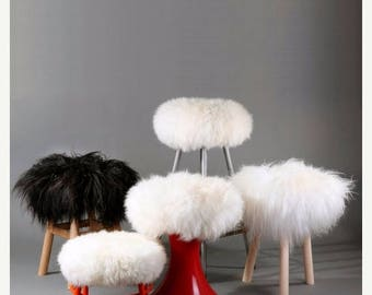 Spring sale Pure Sheepskin Stool Covers! Round / Square / Rectangle - Many sizes!!!
