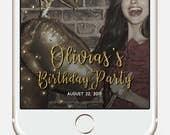 Snapchat Geofilter · Custom Golden Glitter Birthday Snapchat Filter · Birthday Geofilter · Party Geofilter · Gift for her · Birthday Filter