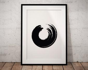 Zen print art, Zen wall art decor, Large zen wall art, Large zen art print, Zen yoga poster, Yoga wall print, Minimalist large art, Zen art