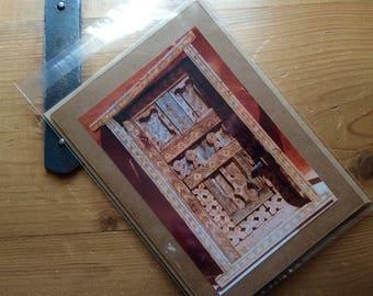 Handmade Card with Moroccan Door Image