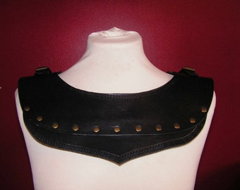 Black Leather Mantle Armour, LARP, Role Playing