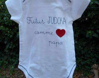 "Body ""future judoka like Daddy"" customizable"