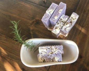 Purple- White Lavender soap