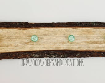 Live edge Cherry wood coat rack