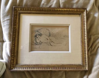 Rare Pierre Auguste Renoir Etching