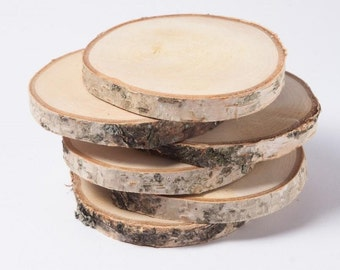 Birch Wood Coasters set of 4