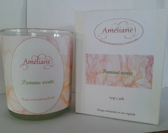 """""""Green Apple"""" scented candle / Perfumed candle Green Apple"""