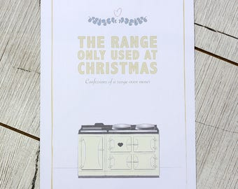 A4 wall print for your kitchen – The range, only used at Christmas
