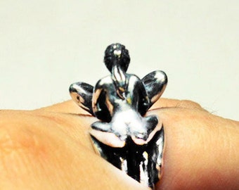 """Erotic Silver Ring, Silver Ring Sex, Ring for him, Ring for her, Mens ring, Silver ring """"Kama sutra"""", Sexy ring"""