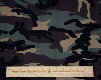 Double Brushed Polyester Spandex, Camo – 1/2 meter