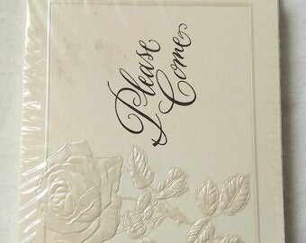 "Vintage | American Greetings | Please Come | Fancy Wedding Invites | 10 Invitations & Envelopes | 3-7/8"" x 5-1/8"" 