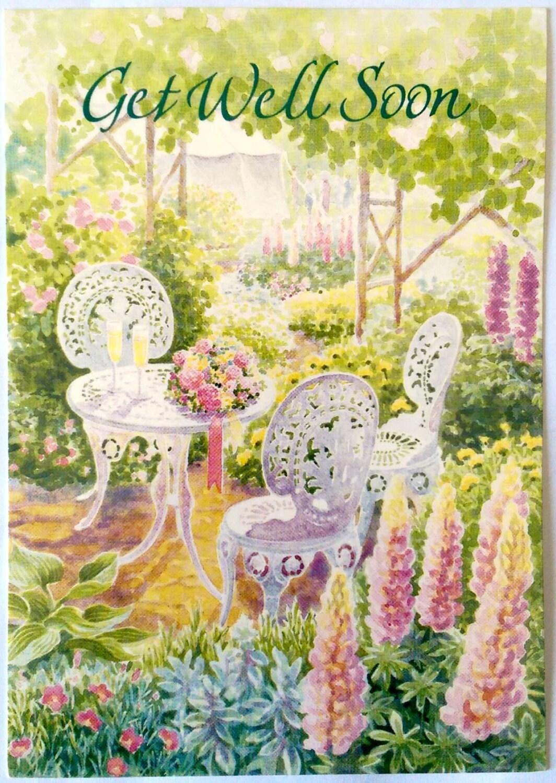 Academy Greetings Get Well Soon Card Backyard Garden Encouragement