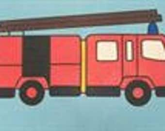 A4 Fire Engine Sand Art Picture Pack