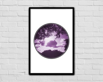 Purple - Geometric Art Print - Nature Print - Beautiful - Trees - Tranquil Art - Fun - Sun - Simple - Modern Print - Digital Prints - Photo
