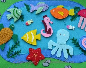 Go fishing! Magnetic game felt.Educational game
