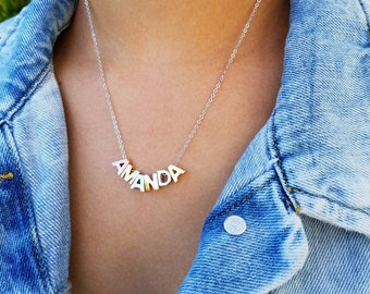 Personalized Name Necklace, Custom Name Necklace, Capital Letter Necklace, Initial Necklace, Customizable Name Necklace, Alphabet Necklace