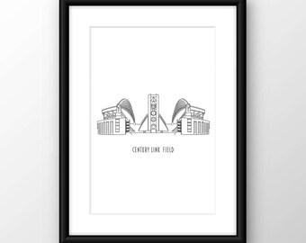 Seattle Washington, Century Link Field Digital Print
