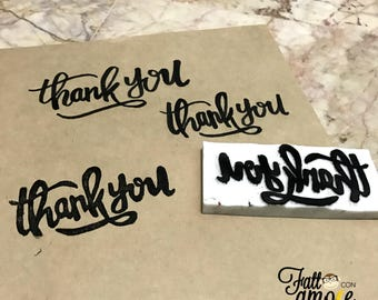 Thank You stamp | calligraphy