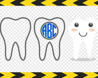 Tooth Svg Clipart Tooth monogram Decal Cricut designs Scrapbook Dxf Pdf Png Cut files