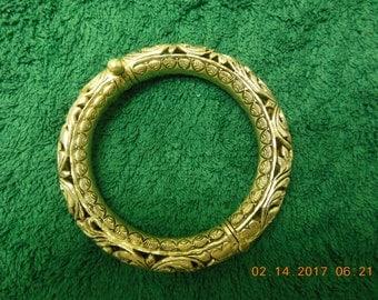 """Sterling Silver heavy Byzantine design 8 """"bangle bracelet"""