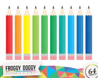 Colored Pencils Clipart, Pencils Clipart, Crayons Clipart, Drawing Clipart, Planner Clipart, Scrapbooking Cliparts