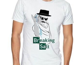 Breaking bad vs Salt Bae  graphic t-shirt Icemberg Walter white
