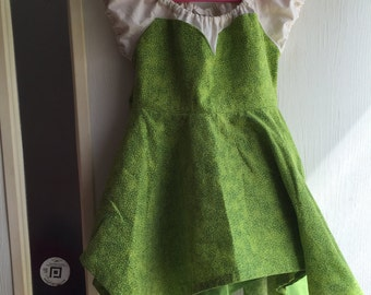 Tinkerbell Inspired Cotton Princess dress---SIZES 6M-8