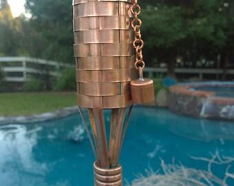 Copper Tiki Torch