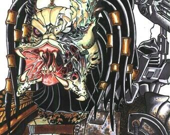 Predator Illustration. Ilustración Depredador