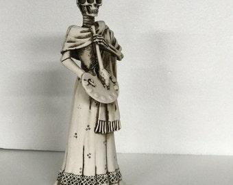 Frida Kahlo Catrina - Ox Bone