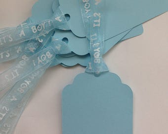 Boy baby shower gift tags/party favor tags
