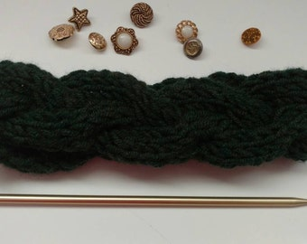 Forest Green Cable Knit Headband