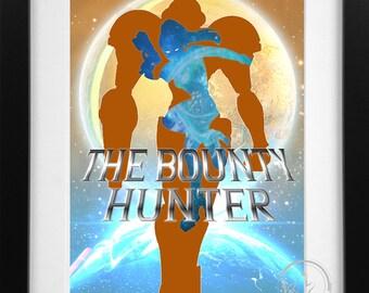 The Bounty Hunter; Metroid Samus Aran Print