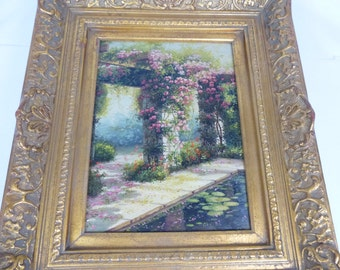 """Antique Oil Painting with frame ~26"""" x 23"""""""