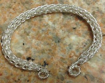 Viking weave in Silver