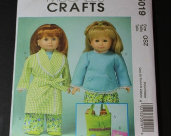 """NEW McCalls Crafts 5019  18"""" doll clothes pattern"""
