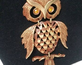 Owl Bronze tone Owl pendant