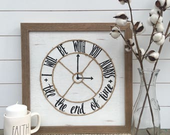 clock i will be with you sign