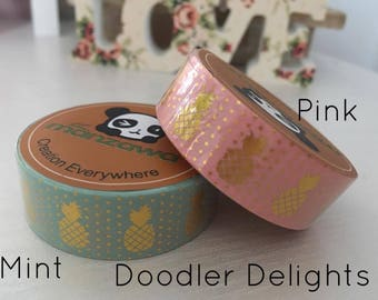 pineapple washi tape gold washi tape 10m